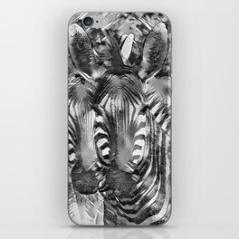 AnimalArtBW_Zebra_20170701_by_JAMColorsSpecial iPhone Skin