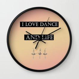 i love ... Wall Clock