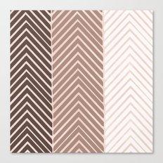 Triple Chevron Canvas Print