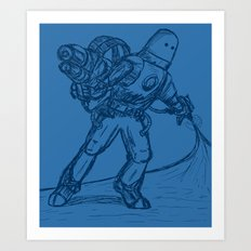 Mr. Freeze Art Print