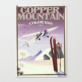 Copper Mountain colorado vintage poster Canvas Print