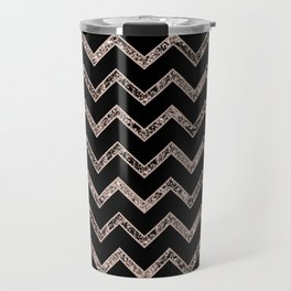 Chevron Glitter Glam #3 #shiny #decor #art #society6 Travel Mug
