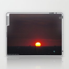 Great Ball of Fire: Chicago Sunset, Jan. 13, 2016 (Chicago Sunrise/Sunset Collection) Laptop & iPad Skin
