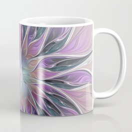 Fantasy Flower, Colorful Abstract Fractal Art Coffee Mug