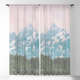 Mountain Magick - Grand Teton National Park Sheer Curtain