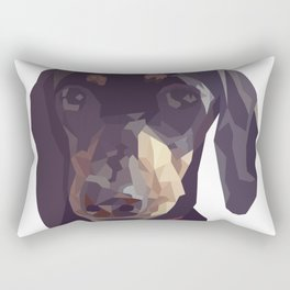 Geometric Sausage Dog Digitally Created Rectangular Pillow