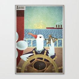 A-Z Animal, Albatross Quartermaster - Illustration Canvas Print