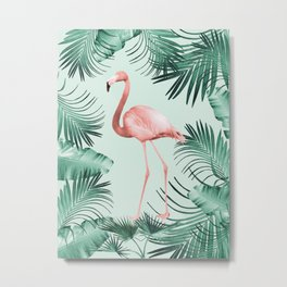 Flamingo in the Jungle #1 #tropical #decor #art #society6 Metal Print