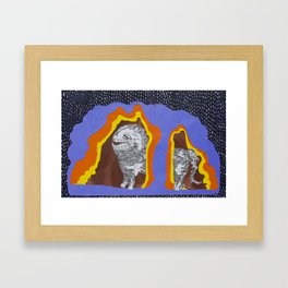 Desmond in the Rain Framed Art Print