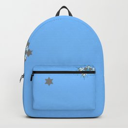 BABY BLUE COLOR & SNOWFLAKES DESIGN ART Backpack
