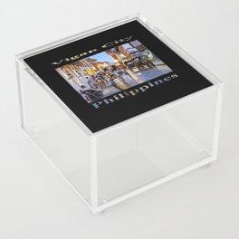 Rush Hour in Vigan City (on black) Acrylic Box