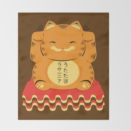 Lucky Garfield Throw Blanket
