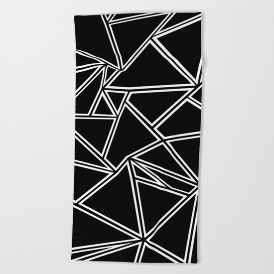 Shattered Ab Zoom Beach Towel