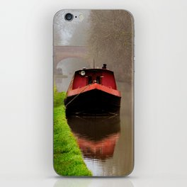 Barge on the Canal iPhone Skin