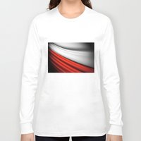 poland Long Sleeve T-shirts featuring flag of Poland by Lulla