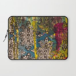 Scrambled Design in Teal, Yellow and Magenta Laptop Sleeve