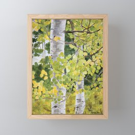 Lake Tahoe Aspens Close-up Framed Mini Art Print
