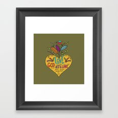 Love One Another Framed Art Print