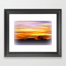 Layers of vibrant Clouds Framed Art Print