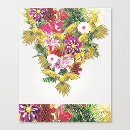 Parrot Floral Canvas Print