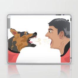 man vs dog Laptop & iPad Skin