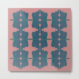 Luxury vint. mandalas BLUE PINK Metal Print