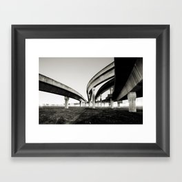 in the same direction Framed Art Print