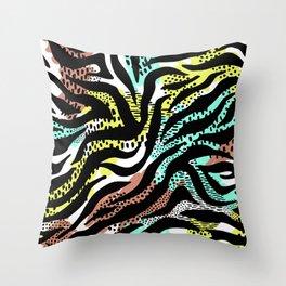 Modern abstract Animal Print Throw Pillow
