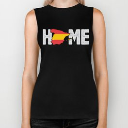 Home Spain Spanish Flag Native Country Biker Tank