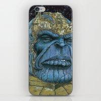 thanos iPhone & iPod Skins featuring Thanos of Titan by GraphixRob Studios