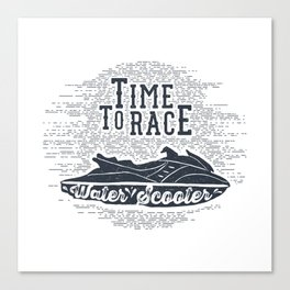 Time To Race. Water Scooter Canvas Print
