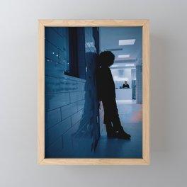 Shadow of a Boy in Hospital Reception, B Framed Mini Art Print