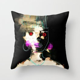 Lady in the Dark Room Throw Pillow