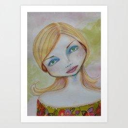 Bella SASS Girl - Candy - SASS = Strong and Super Smart Art Print