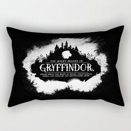 Gryffindor B&W Rectangular Pillow