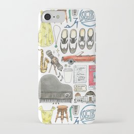 La La Land Flat Lay Illustration iPhone Case