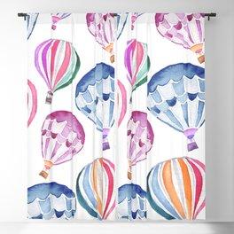 Colorful Hot Air Balloon Pattern Blackout Curtain