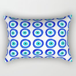 Evil Eye Amulet Talisman - on white Rectangular Pillow