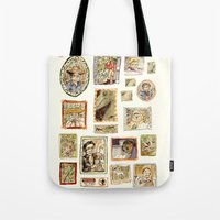 jurassic park Tote Bags featuring Jurassic Park Portrait Wall by Beastlyworlds