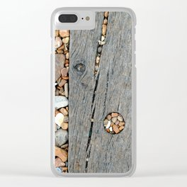 Beach Pebble Abstract Clear iPhone Case
