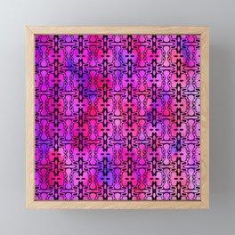 Purple Watercolor Haze, Filigree Pattern Framed Mini Art Print