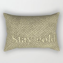 Stay Gold Rectangular Pillow