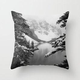 The View (Black and White) Throw Pillow