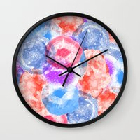geode Wall Clocks featuring Geode Flavor by Tyler Spangler