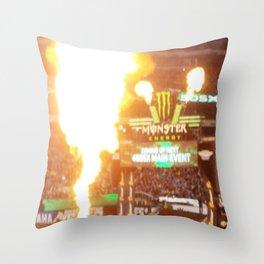 MX Supercross Explosive Fire Throw Pillow