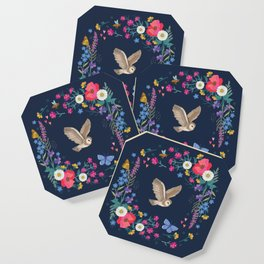 Owl and Wildflowers Coaster