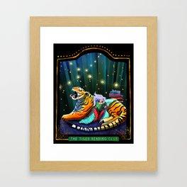 Tiger Reading Club Framed Art Print