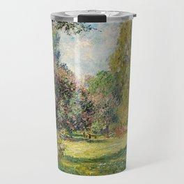 The Parc Monceau by Claude Monet Travel Mug