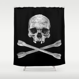 Jolly Roger Banner Shower Curtain