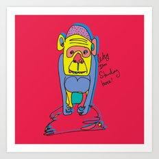 poor Monkey Art Print